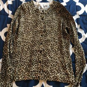 Charter Club Leopard Print Cardigan